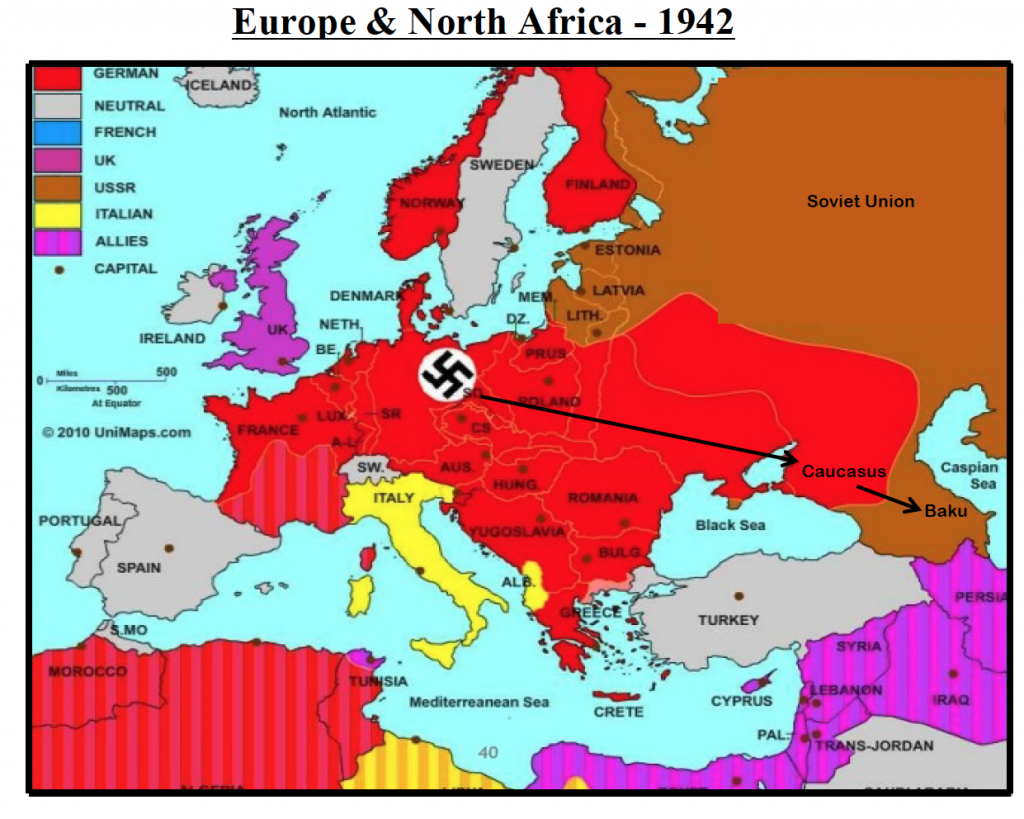 Map Of Germany During Wwii.Oil And War Defense Info
